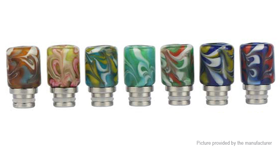 Glass + Stainless Steel Hybrid 510 Drip Tip (7 Pieces)