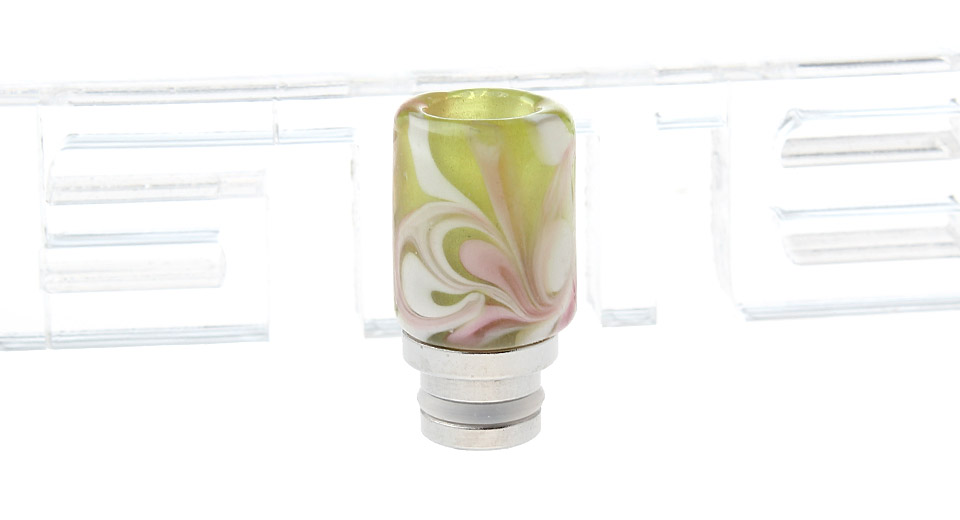 Glass + Stainless Steel Hybrid 510 Drip Tip