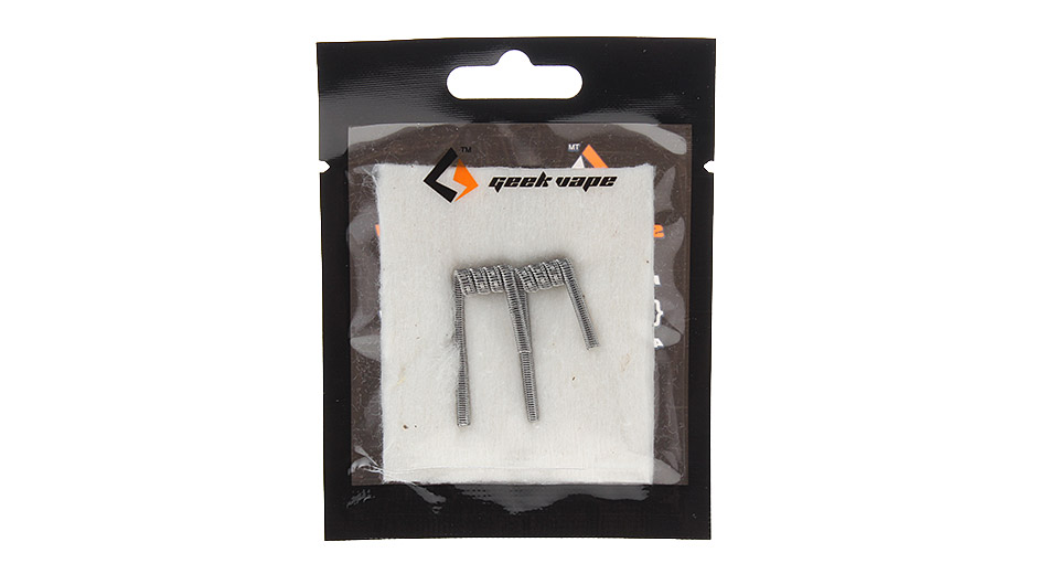 Authentic GeekVape Kanthal A1 Staple Staggered Fused Clapton Coil for RBA Atomizers (2-Pack)
