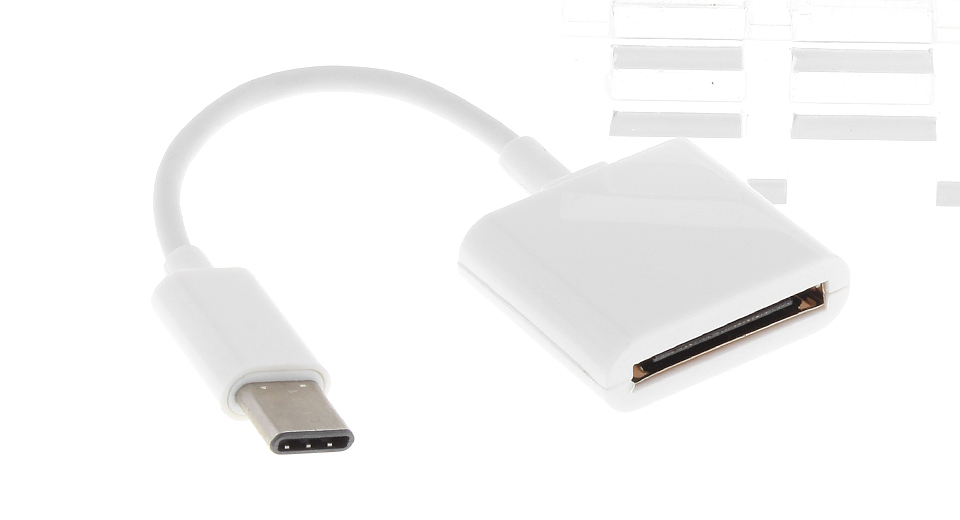USB-C to Apple 30-pin Data Sync / Charging Adapter Cable (6cm)
