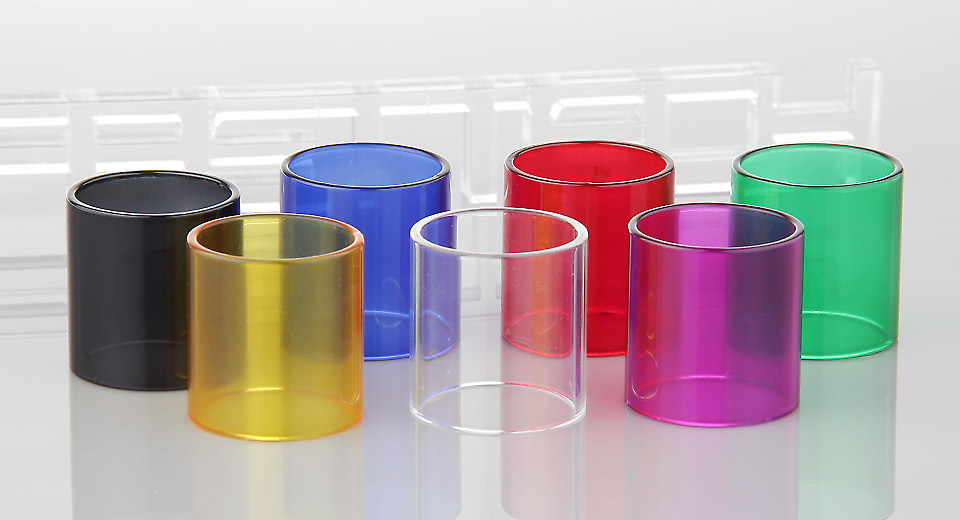 Authentic Clrane Replacement Glass Tank for Smoktech TFV8 Clearomizer (7 Pieces)