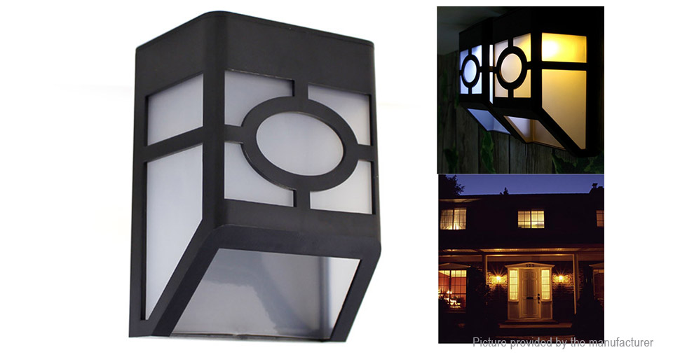 YINGHAO YH0604 Outdoor Solar Power LED Wall Light Lamp