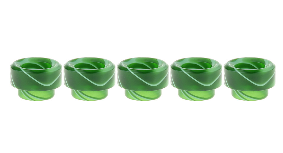 Acrylic Wide Bore Drip Tip for KENNEDY RDA Atomizer (5-Pack)