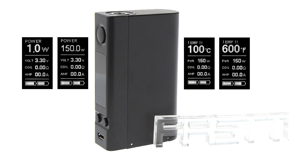 *SALE* Authentic Joyetech eVic VTC Dual 75W/150W TC VW APV Box Mod