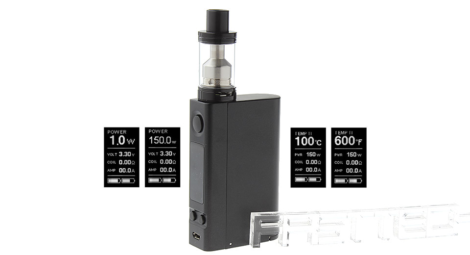 Authentic Joyetech eVic VTC Dual 75W TC VW APV Box Mod Kit