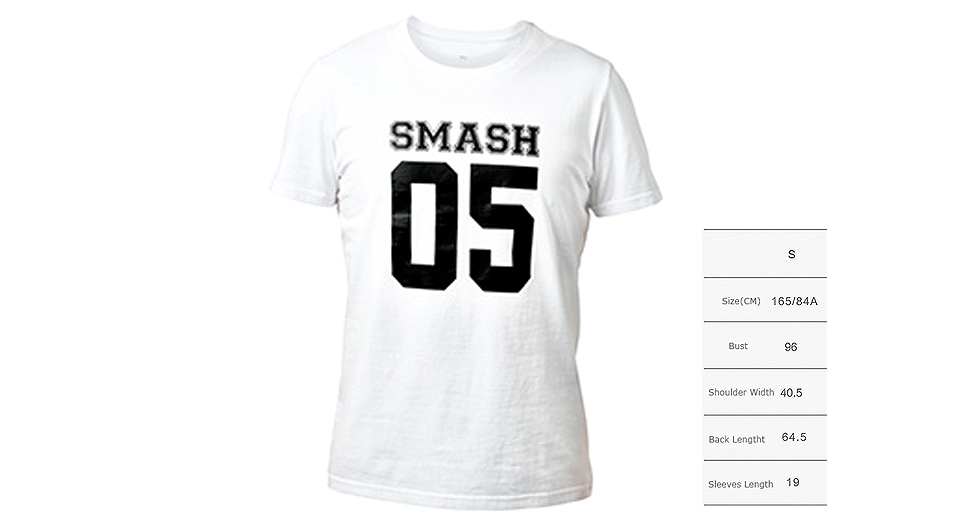 Authentic Xiaomi Mi SMASH 05 Printed Unisex Short Sleeve T-shirt (Size S)