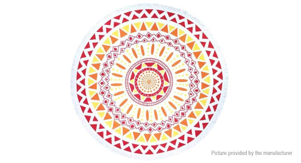 Round Beach Towel Yoga Mat Tippet Polyester Tablecloth