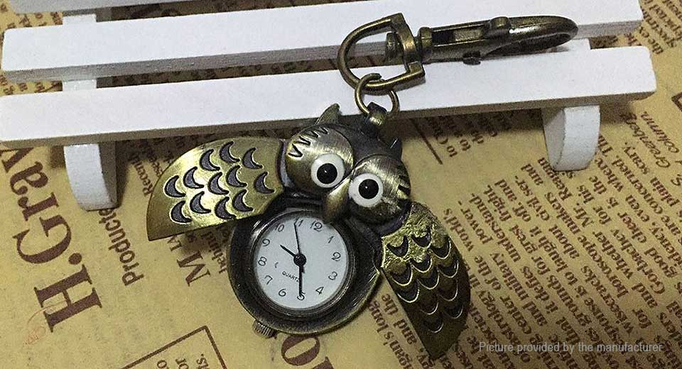 Retro Owl Alloy Pocket Watch Hanging Watch
