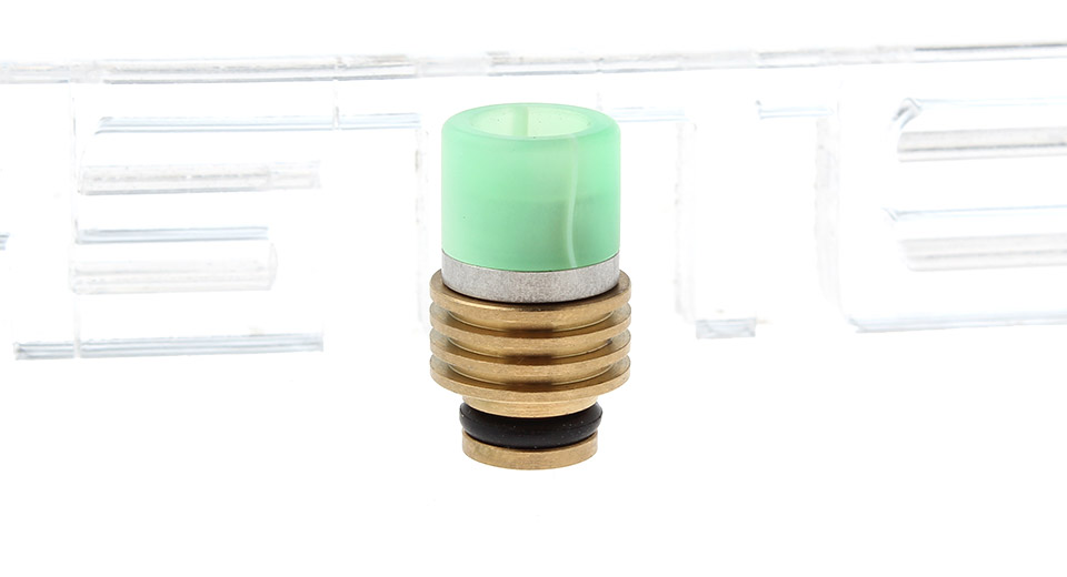 Stainless Steel + Resin Hybrid 510 Drip Tip w/ Stainless Steel Insulation Base