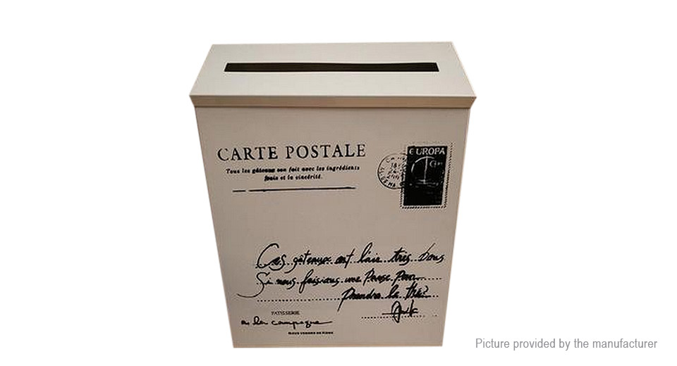 Vintage Iron Post Box Mailbox Photography Props Home Decoration