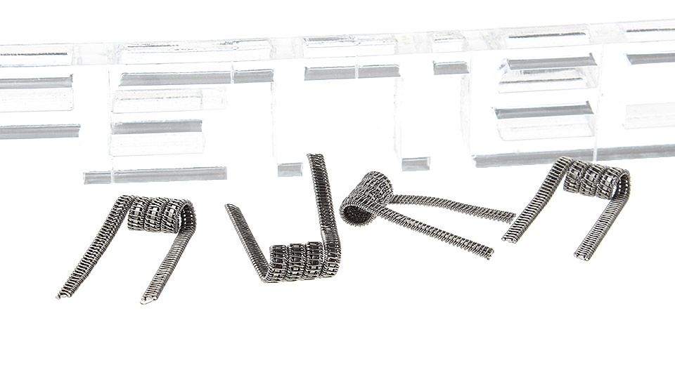 Kanthal Staple Staggered Clapton Pre-Coiled Wires for RBA Atomizers (4-Pack)