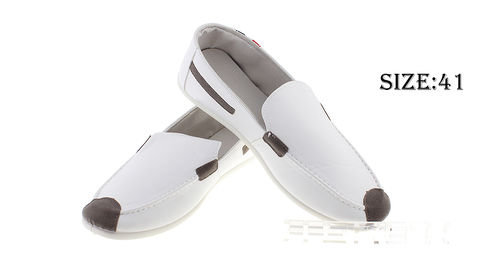 Mens Casual Slip On Loafers Driving Dress Doug Shoes (Size 41/White)
