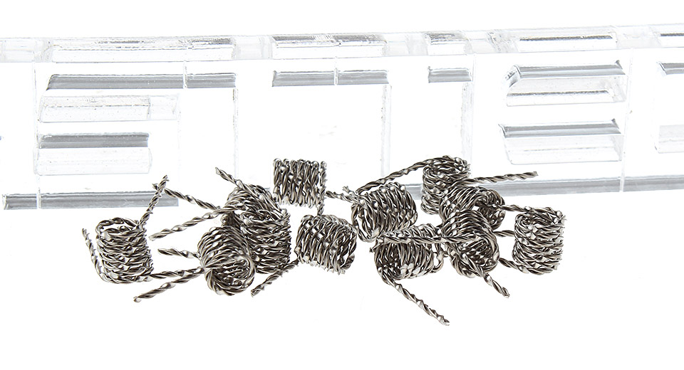 Authentic MKWS 316L Stainless Steel Mix Twisted Pre-Coiled Wires (10-Pack)