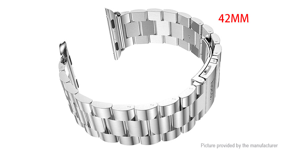Authentic hoco Replacement Stainless Steel Watchband Strap for Apple Watch 42mm