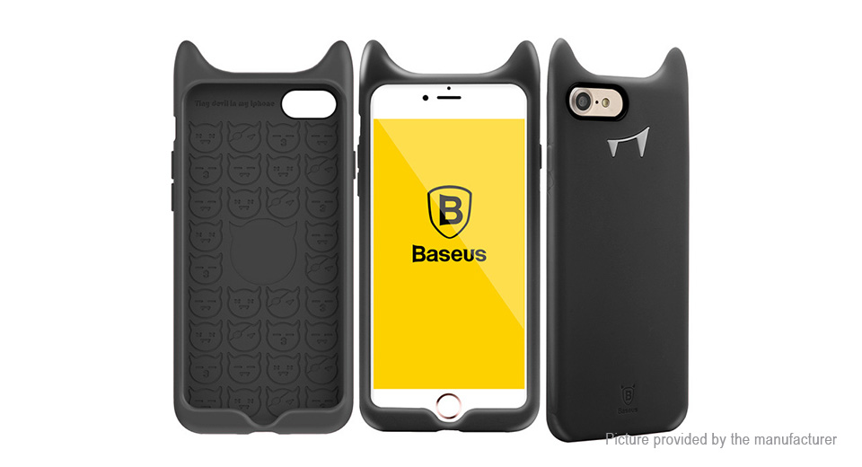 Baseus Devil Styled Silicone Protective Back Case Cover for iPhone 7