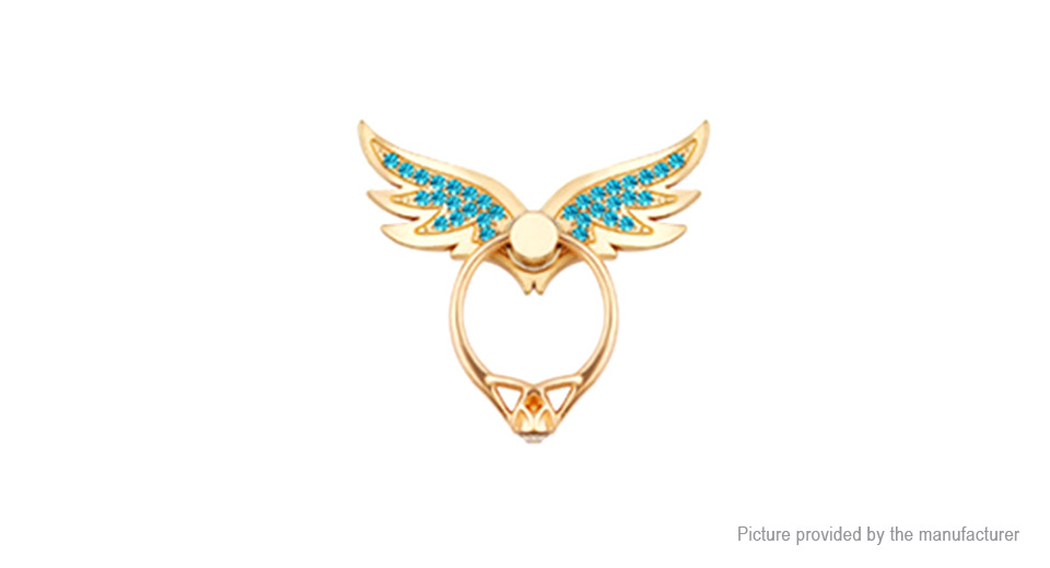 Crystal Wings Ring Styled Cell Phone Holder
