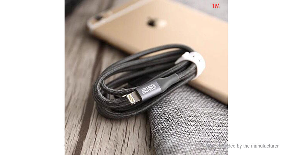 JustNeed 8-pin to USB 2.0 Braided Data Sync / Charging Cable (100cm)