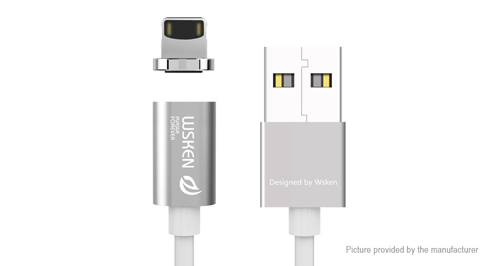 WSKEN Mini1 Magnetic 8-pin to USB 2.0 Data Sync / Charging Cable (100cm)
