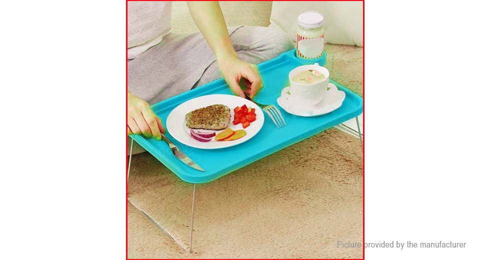 Foldable Plastic Notebook Laptop Small Desk Bed Food Tray
