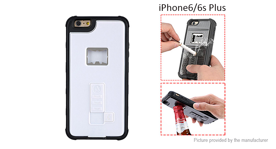Multifunctional Rechargeable Cigarette Lighter Protective Back Case for iPhone 6s Plus/6 Plus