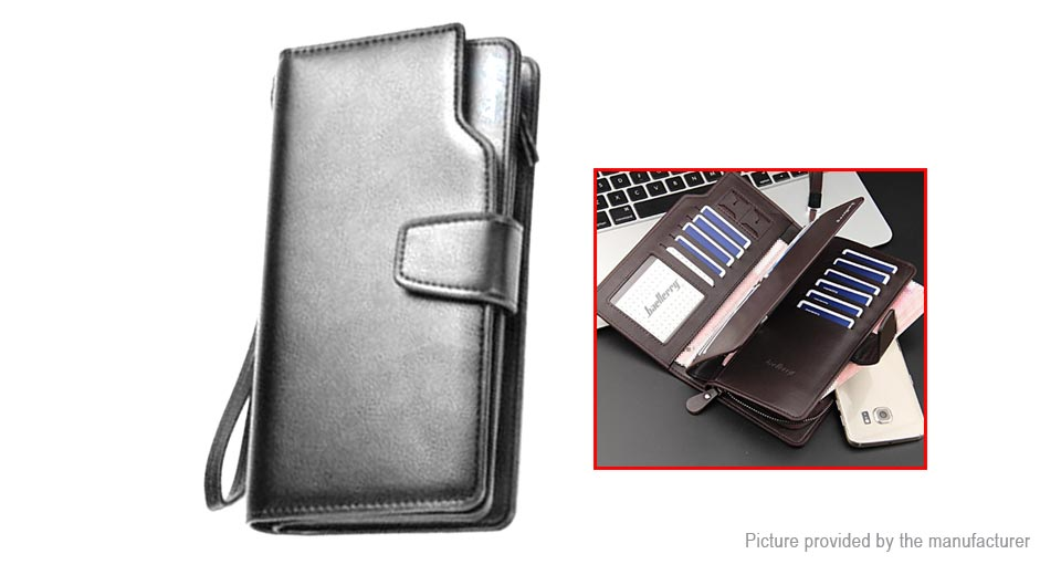 Baellerry Mens Business PU Leather Zipper Wallet Card Holder Handbag