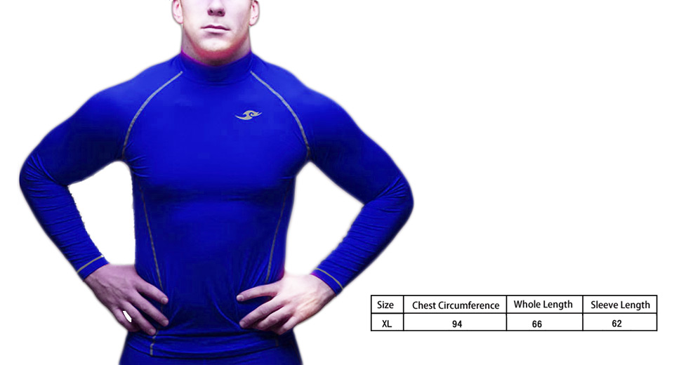 Mens Sports Fitness Running Long Sleeve Quick-dry Compression T-shirt (Size XL)