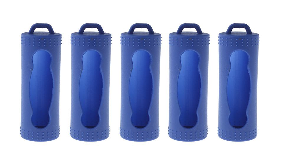 26650 Battery Protective Silicone Sleeve Case (5-Pack)