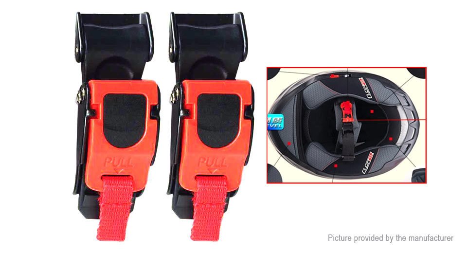 Motorcycle Helmet Chin Strap Quick Release Buckle Clip (2-Pack)