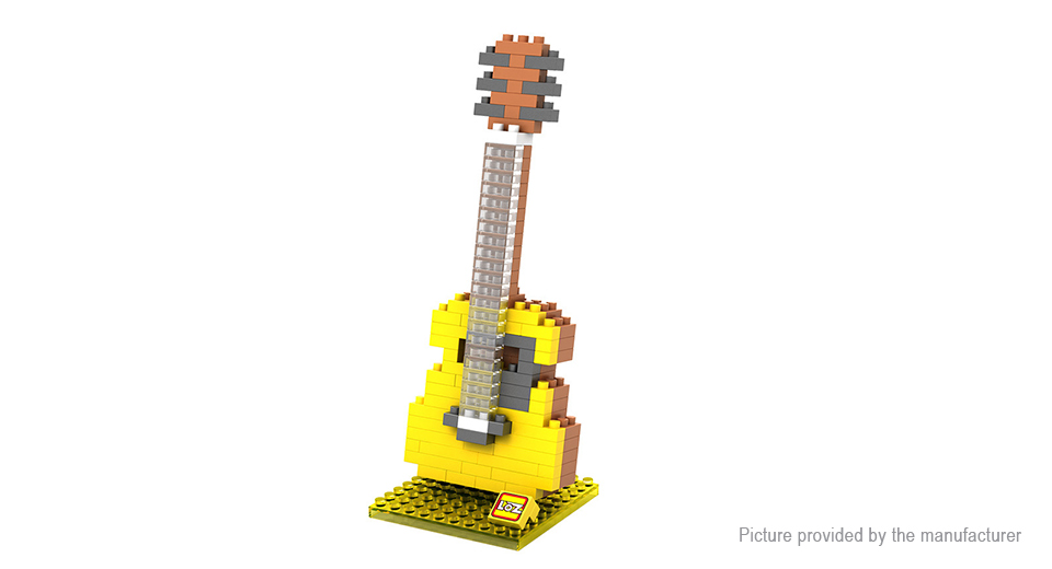 Musical Instruments Styled Building Block Educational Toy