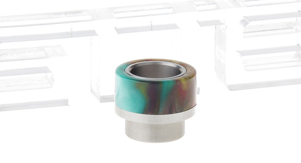 Epoxy Resin + Stainless Steel Hybrid Wide Bore Drip Tip for GOON Atomizer