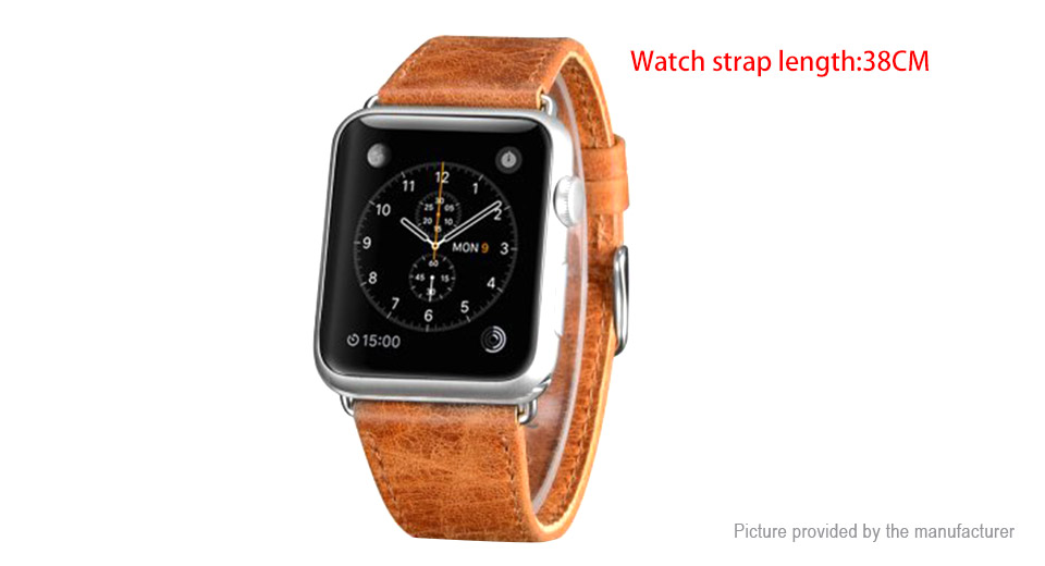OATSBASF Replacement Leather Watchband Strap for Apple Watch 38mm
