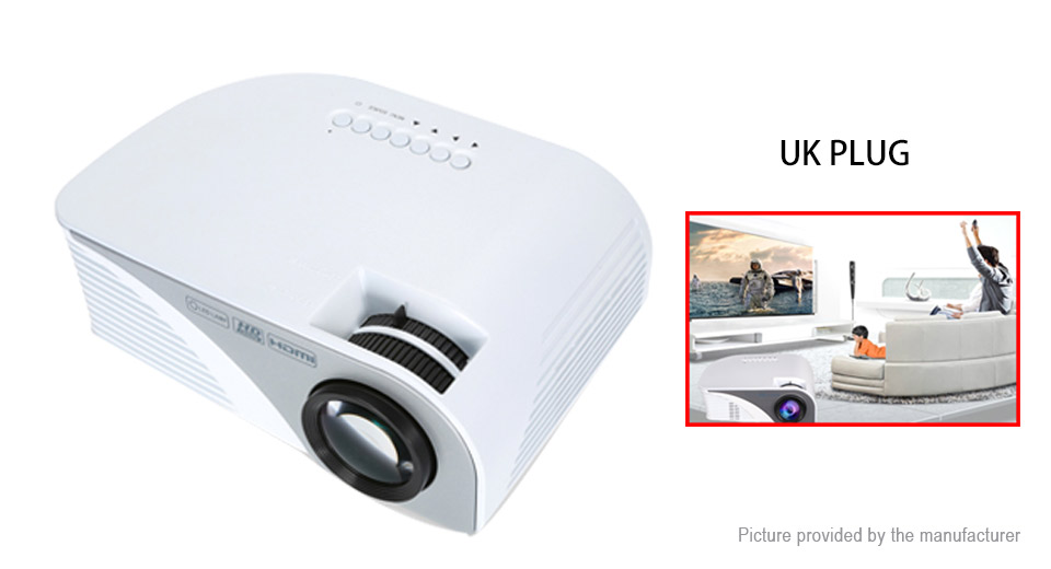Rigal RD-805B Mini LED Projector Home Theater (UK)