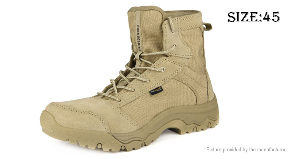 Free Soldier AC0011 Mens Outdoor Hiking Climbing Trekking Boots Shoes (Size 45)