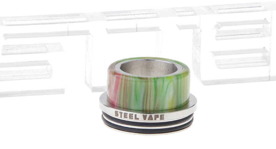 Authentic Steelvape Resin + 304 Stainless Steel Hybrid Wide Bore Drip Tip