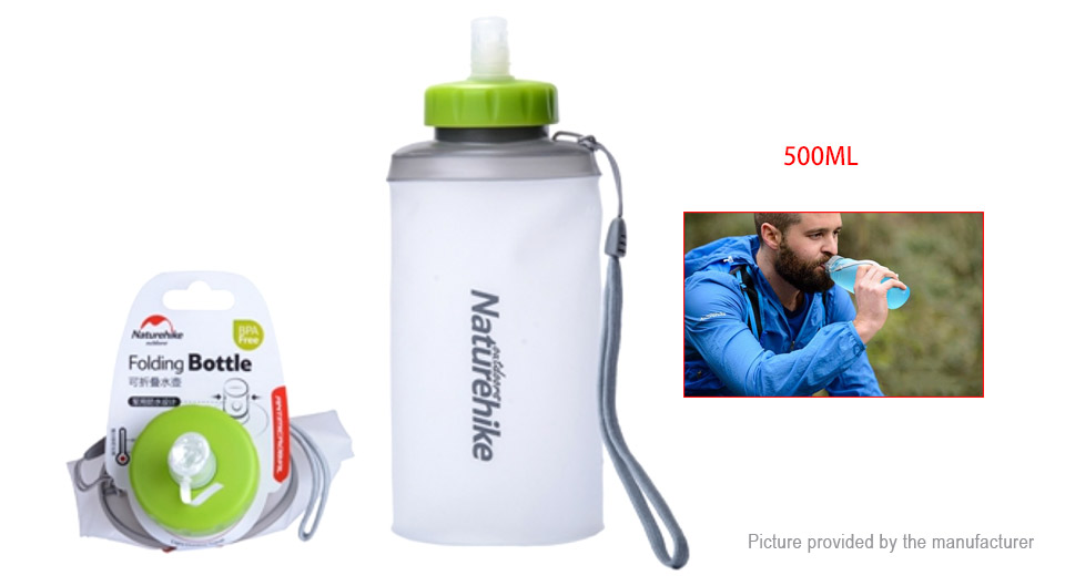 Naturehike Outdoor Folding Silicone Water Bottle Portable Drinking Bag (500ml)