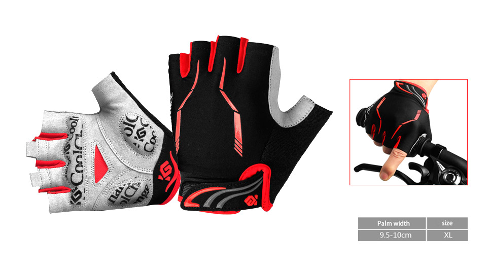 CoolChange Unisex Outdoor Cycling Half-finger Gloves (Size XL)
