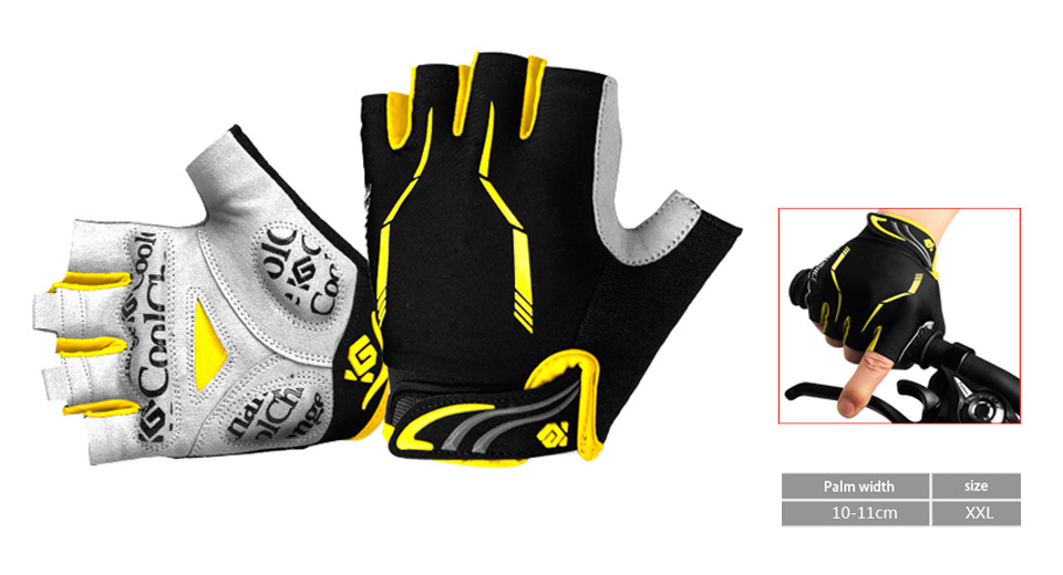 CoolChange Unisex Outdoor Cycling Half-finger Gloves (Size 2XL)