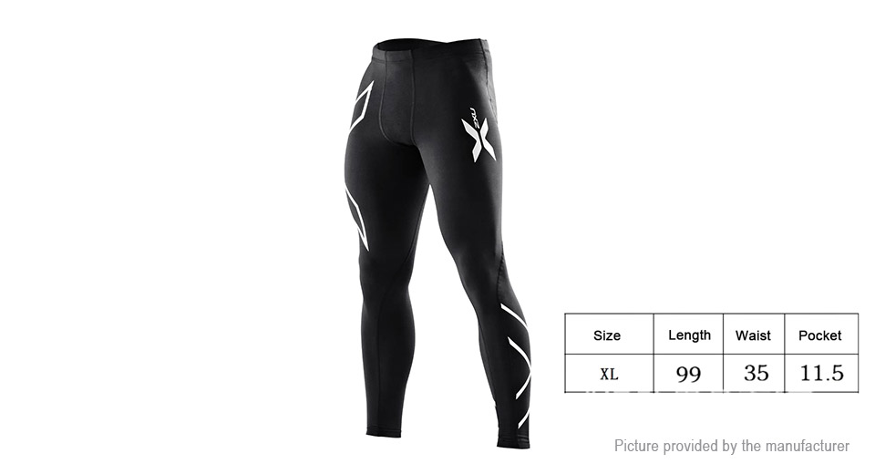 Mens Sports Fitness Running Compression Tight Pants (Size XL)