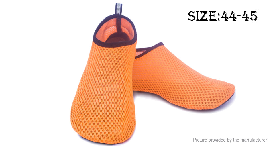 Unisex Surfing Swimming Breathable Mesh Barefoot Water Shoes (Size 44-45)