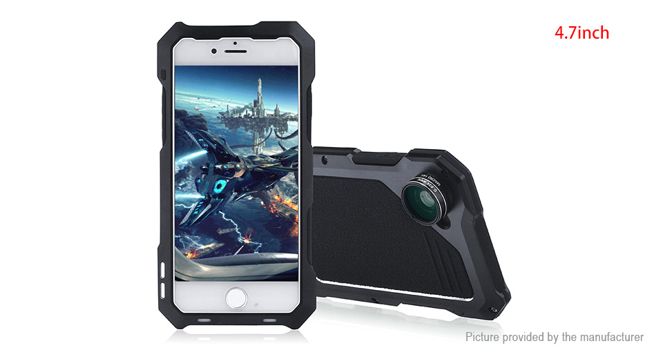 4-in-1 Protective Back Case Camera Lens Kit for iPhone 7