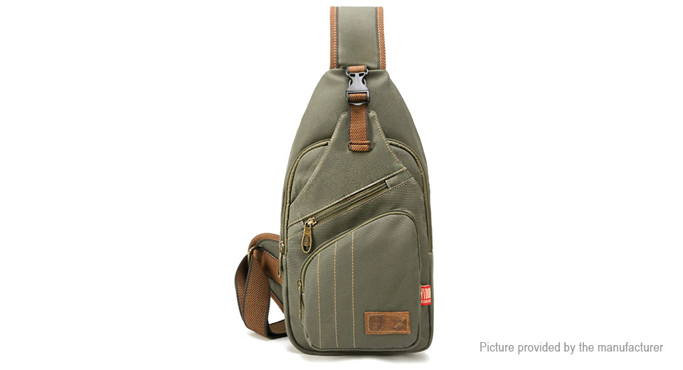 Mens Canvas Outdoor Casual Crossbody Chest Bag