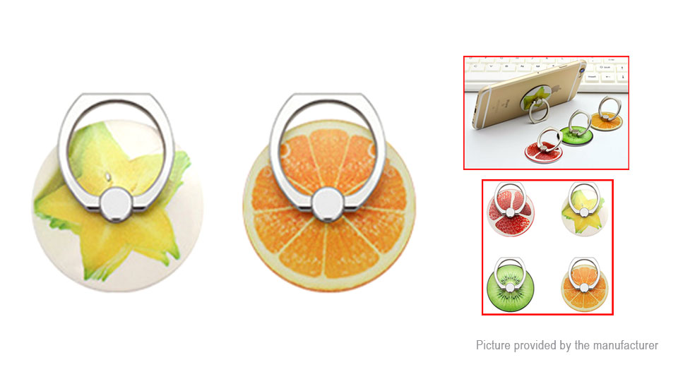 PESTON Fruit Styled Finger Ring Cell Phone Holder Stand (2 Pieces)