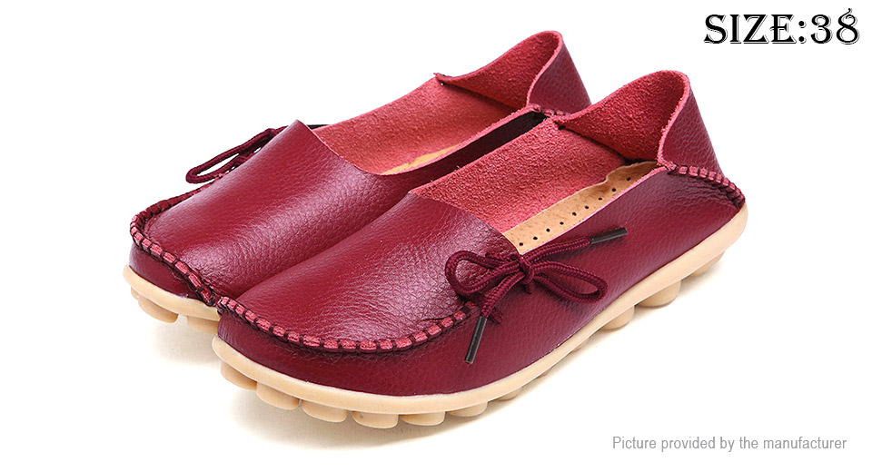 Womens Casual Breathable Lace-up Flat Loafers Shoes (Size 38)