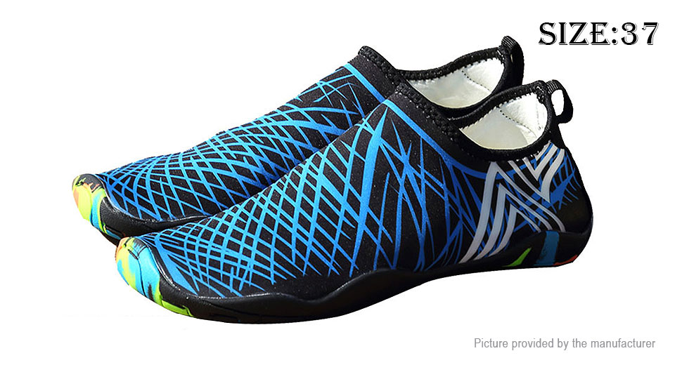 Unisex Barefoot Quick Dry Beach Water Sports Aqua Shoes (Size 37)