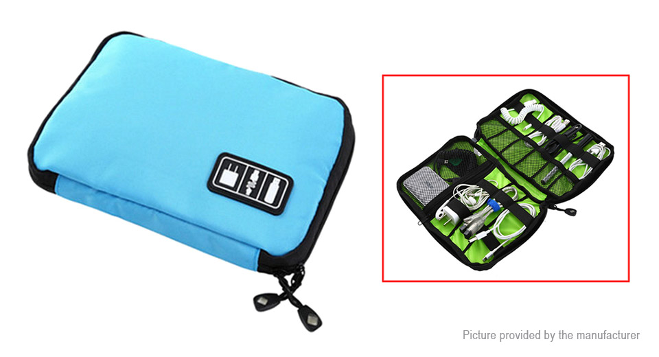 Cable Storage Bag Electronic Accessories Organizer Travel Carry Case