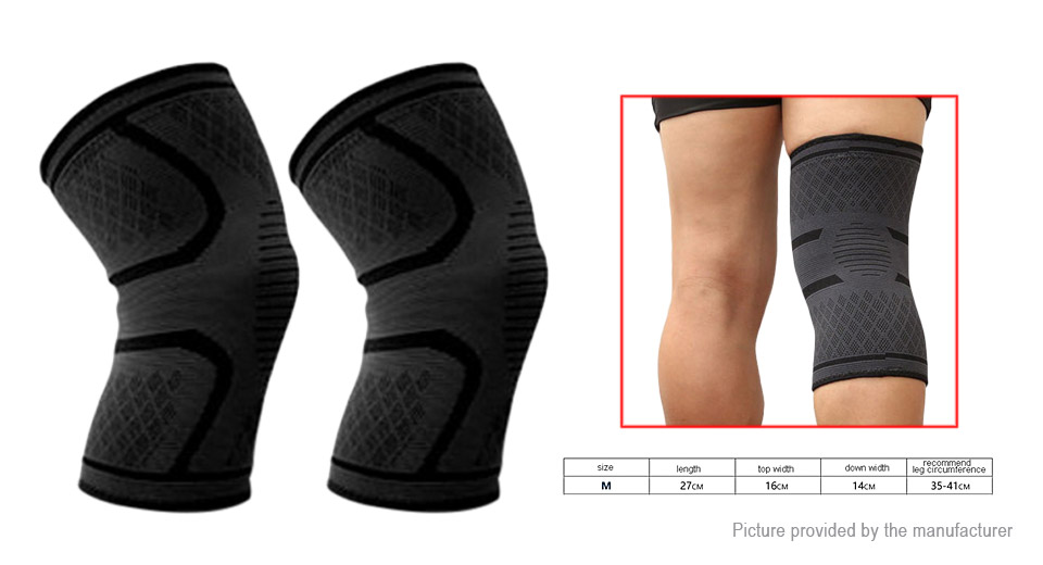 Aolikes Outdoor Sports Cycling Elastic Knee Support Brace (Pair/Size M)