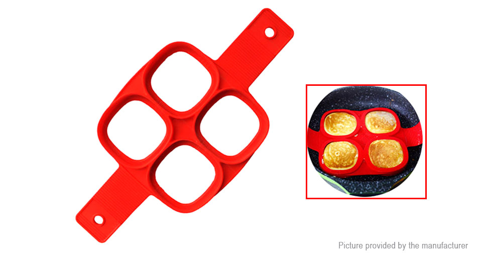 4 Holes Silicone Omelette Pan Fried Egg Pancake Mold