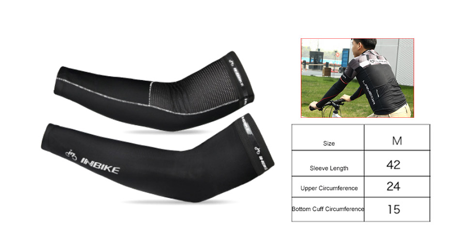INBIKE Unisex Outdoor Sports Cycling UV Protection Arm Cooling Sleeves (Pair)