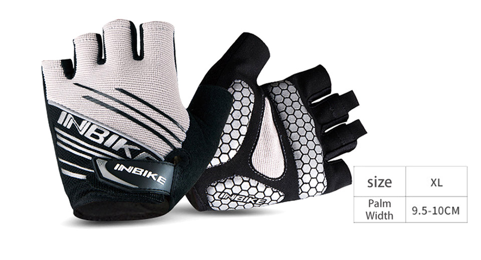 INBIKE Outdoor Cycling Bicycle Non-slip Half-finger Gloves (Pair/Size XL)