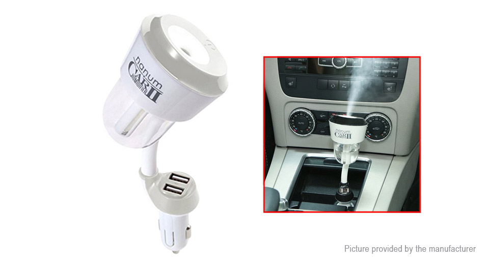 Portable USB Car Charger Humidifier Aromatherapy Essential Oil Diffuser